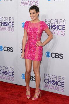 Lea Michele in Elie Saab at the 2013 People's Choice Awards