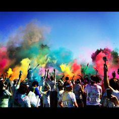 All the pretty colors @TheColorRun