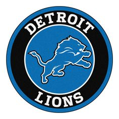 """For all those NFL fans out there, these 27"""" round rugs featuring the Detroit Lions logo and colors look great in any man cave, game room, or anywhere esle in the house, even in the parking lot while t"""