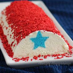 Keep cool this 4th of July by enjoying a slice or two of this Red, White, and Blue Ice Cream Roll. You'll get cake, ice cream and sprinkles in each slice. Recipe from HungryHappenings.com