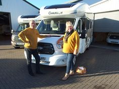 The new Chausson Titanium motorhomes we have in our showroom and proving to be very popular.   Jo & Jude from Whitstable are pictured taking delivery of their very first motorhome, a brand new Chausson 640 TITANIUM, one of Chausson`s new model range for the 2019 season. Garage Lockers, Hideaway Bed, New Model, Motorhome, Showroom, Delivery, Range, Popular, Pull Out Bed
