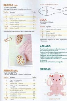 68 Patrones de amigurumi en español Crochet Bunny Pattern, Crochet Flower Patterns, Crochet Patterns Amigurumi, Love Crochet, Amigurumi Doll, Crochet Dolls, Crochet Flowers, Crochet Storage, Kawaii Crochet