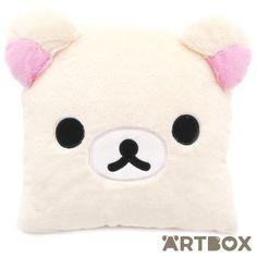 Buy San-X Korilakkuma Face Plush Square Cushion at ARTBOX