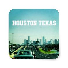 Houston Texas Skyline (Sticker)
