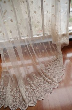 ivory Lace fabric, Embroidered tulle lace fabric, vintage lace fabric, antique bridal lace, home decors Double border trimming lace fabric ======MATERIAL==== cotton + mesh =====MEASUREMENT===== =======COLOR======== ivory as seen in the picture .