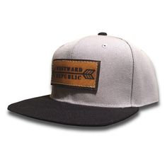 The Archer. Unique Handmade Leather Patch Design. Comfortable fit Outdoor Inspired Style Adjustable Snapback - one size fits most (adult sizes) JOIN THE REPUBLIC, WEAR WESTWARD.