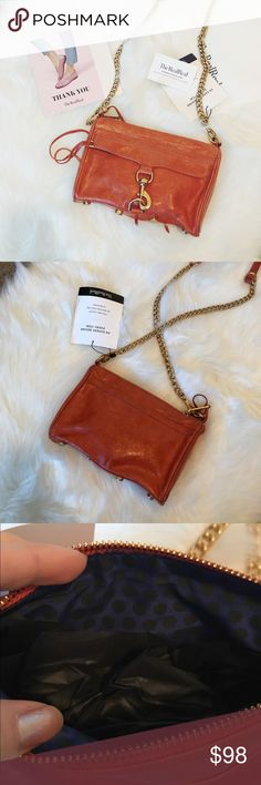 Rebecca Minkoff Mini M.A.C. Crossbody Bag Purchased from TheRealReal and never used. Condition and measurements in last image. Love this!! Rebecca Minkoff Bags Crossbody Bags