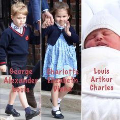 April 27, 2018 ~ This is a montage of TRH Prince William, Duke of Cambridge and Catherine, Duchess of Cambridge's three children.
