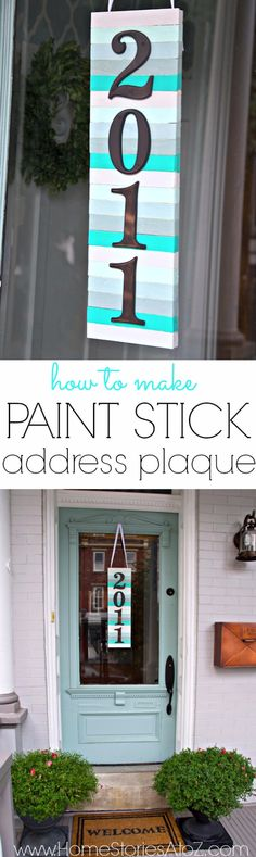 33 Unique House Number Ideas that are Easy to Create Ideas