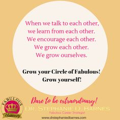 Talk to a Sister...and Learn! #fabulousuniversity
