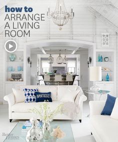 Make the most of your space by learning how to arrange a living room. Watch the video here: http://www.bhg.com/videos/m/69004252/how-to-arrange-a-living-room.htm?socsrc=bhgpin021114arranginglivingroom