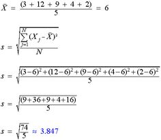 Standard Deviation - calculate, formula, sample