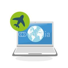 illustration of laptop design, editable vector