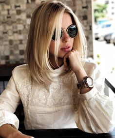 Short Hair Styles Easy, Medium Hair Styles, Ombre Hair, Balayage Hair, Brown Eyes Blonde Hair, Ash Blonde, Cute Haircuts, Grunge Hair, Hair Lengths