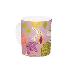 Aztec Boho by Anneline Sophia 11 oz. Blue Ceramic Coffee Mug