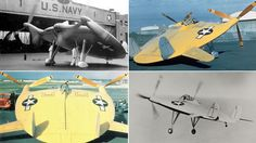 """Vought V-173, the """"Flying Pancake"""", an American experimental fighter aircraft for the United States Navy (1942)."""