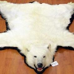 faux polar bear rug own all the tacky things - Bear Rugs