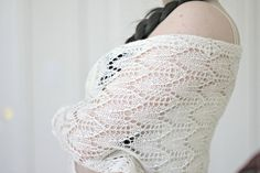 I was thinking of making a #stole for wedding which also can be used as a veil. So the #pattern is very easy - repeating of 15 rows with a thin border of garter stitches. You... #kgthreads #supplies #knitting #white #lace #rusteam #knitting #cream #homespunsociety