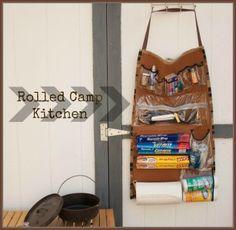 Camp Kitchen Organizer - Rolled Camp Kitchen - Todays Creative Blog