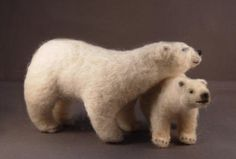 Needle Felted Miniature Bears by Mary Lou Foley