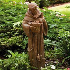New Creative St. Francis Statuary Bird Feeder