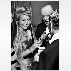 Below is a photo taken in July 1947 of Evita at a reception in Paris.