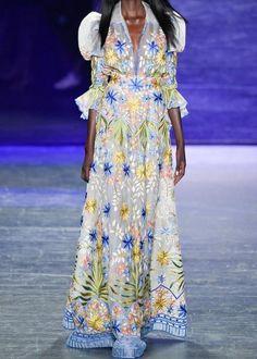 2017 Spring Flare Sleeve Maxi Dress