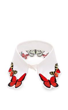 Fauna butterfly embroidered collar by VIVETTA Available Now on Moda Operandi