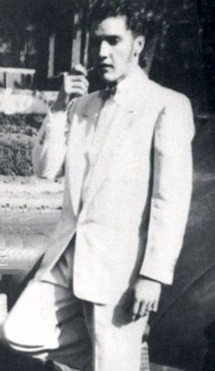 curious photo of a very young Elvis Presley