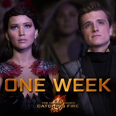 ONE WEEK until #CatchingFire! Ahhhhh!!!! Can't wait!!!!!!!!!!