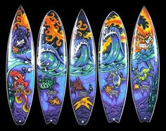 Drew Brophy Surfboard Art. Surfers are the most incredible artist!!!