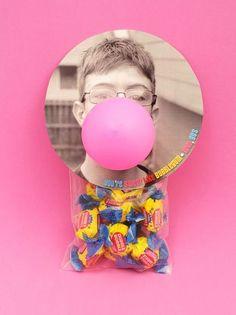 Valentine Goodie Bag Ideas - Bubblegum Favors for Valentine's Day