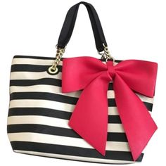 Pre-owned Betsey Johnson Black, White, Red Tote Bag (€97) ❤ liked on Polyvore featuring bags, handbags, tote bags, accessories, white leather tote bag, striped handbags, red leather handbags, betsey johnson tote bags and red leather tote bag