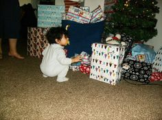 Christmas morning through the eyes of a 14 month old