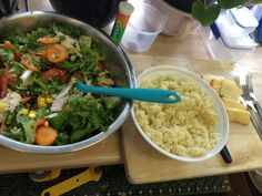 Salad with cous cous