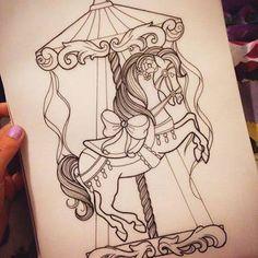 Resultado de imagem para disney carousel tattoo