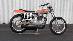 1976 Yamaha OW72 Eddie Lawson Racer Eddie Lawson Factory OW72 1970s vintage dirt track race bike is anything but—named OW72