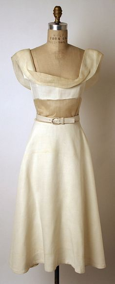 Madame Gres linen and cotton evening dress, 1950