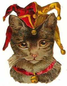 Vintage Court Jester Cat