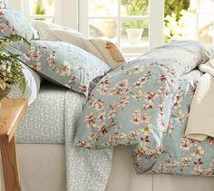 Cherry Blossom Organic Duvet Cover & Sham #potterybarn
