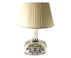 Lampada decorativa in ceramica dipinto a mano Diana - 27x33x27 cm