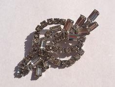 Crystal Rhinestone Vintage Brooch by TooSweetMagnolias on Etsy, $29.00