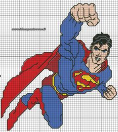 Súper Hero cross stitch 2-17