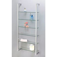 hochwertiges standregal aus verchromten metall mit 3 glasplatten aus sicherheitsglas mit einer. Black Bedroom Furniture Sets. Home Design Ideas