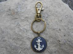 Anchor Cameo Keychain!!! Great Gifts!!!  Quality!!!  Sturdy!!! Key Chain, key holder, Naval