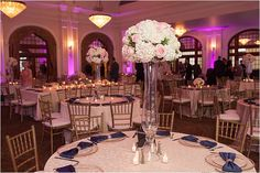 Navy, Blush and Gold Wedding at Crystal Ballroom at The Rice by MD Turner Photography