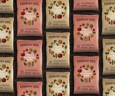 The packaging for organic soil brand Country Soil brings out the inner farmer in every consumer.