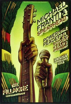 Michael Franti and Spearhead concert poster
