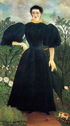 Henri Rousseau: Portrait de la premiere femme de Rousseau (c 1890)