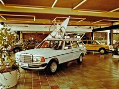 Mercedes-Benz original T-series in the showroom.